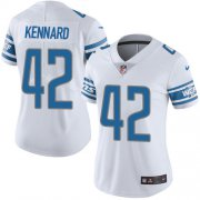 Wholesale Cheap Nike Lions #42 Devon Kennard White Women's Stitched NFL Vapor Untouchable Limited Jersey