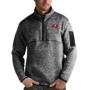 Wholesale Cheap Chicago Blackhawks Antigua Fortune Quarter-Zip Pullover Jacket Charcoal