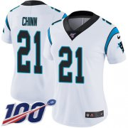 Wholesale Cheap Nike Panthers #21 Jeremy Chinn White Women's Stitched NFL 100th Season Vapor Untouchable Limited Jersey