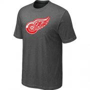 Wholesale Cheap Detroit Red Wings Big & Tall Logo Crow Grey NHL T-Shirt