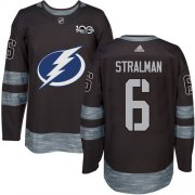 Wholesale Cheap Adidas Lightning #6 Anton Stralman Black 1917-2017 100th Anniversary Stitched NHL Jersey