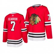 Wholesale Cheap Chicago Blackhawks #7 Brent Seabrook 2019-20 Adidas Authentic Home Red Stitched NHL Jersey