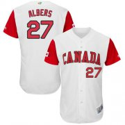 Wholesale Cheap Team Canada #27 Andrew Albers White 2017 World MLB Classic Authentic Stitched MLB Jersey
