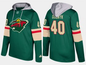Wholesale Cheap Wild #40 Devan Dubnyk Green Name And Number Hoodie