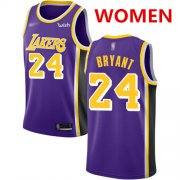 Wholesale Cheap Women's Los Angeles Lakers #24 Kobe Bryant Purple Basketball Swingman Statement Edition Jersey