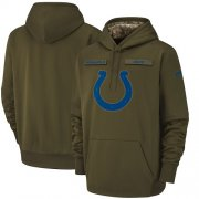 Wholesale Cheap Men's Indianapolis Colts Nike Olive Salute to Service Sideline Therma Performance Pullover Hoodie