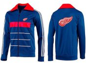 Wholesale Cheap NHL Detroit Red Wings Zip Jackets Blue-3