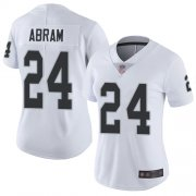 Wholesale Cheap Nike Raiders #24 Johnathan Abram White Women's Stitched NFL Vapor Untouchable Limited Jersey