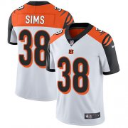 Wholesale Cheap Nike Bengals #38 LeShaun Sims White Youth Stitched NFL Vapor Untouchable Limited Jersey