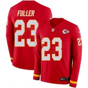 Wholesale Cheap Men's Chiefs #23 Kendall Fuller Red Team Color Men's Stitched NFL Limited Therma Long Sleeve Jersey