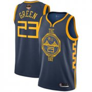 Wholesale Cheap Warriors #23 Draymond Green Navy 2019 Finals Bound Basketball Swingman City Edition 2018-19 Jersey