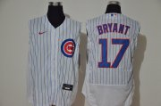Wholesale Cheap Men's Chicago Cubs #17 Kris Bryant White 2020 Cool and Refreshing Sleeveless Fan Stitched Flex Nike Jersey