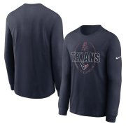Wholesale Cheap Houston Texans Nike Icon Legend Performance Long Sleeve T-Shirt Navy