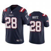 Wholesale Cheap New England Patriots #28 James White Men's Nike Navy 2020 Vapor Limited Jersey