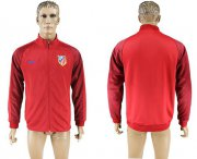 Wholesale Cheap Atletico Madrid Soccer Jackets Red