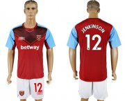 Wholesale Cheap West Ham United #12 Jenkinson Home Soccer Club Jersey