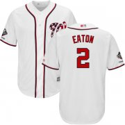 Wholesale Cheap Nationals #2 Adam Eaton White Cool Base 2019 World Series Champions Stitched Youth MLB Jersey
