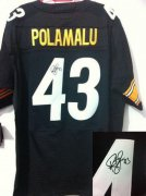 Wholesale Cheap Nike Steelers #43 Troy Polamalu Black Team Color Men's Stitched NFL Elite Autographed Jersey