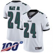 Wholesale Cheap Nike Eagles #24 Darius Slay Jr White Men's Stitched NFL 100th Season Vapor Untouchable Limited Jersey