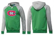 Wholesale Cheap Montreal Canadiens Pullover Hoodie Green & Grey