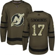Wholesale Cheap Adidas Devils #17 Wayne Simmonds Green Salute to Service Stitched NHL Jersey