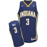 Wholesale Cheap Indiana Pacers #3 George Hill Navy Blue Swingman Jersey