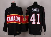 Wholesale Cheap Olympic 2014 CA. #41 Mike Smith Black Stitched NHL Jersey