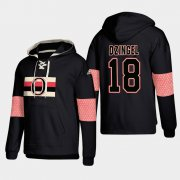Wholesale Cheap Ottawa Senators #18 Ryan Dzingel Black adidas Lace-Up Pullover Hoodie