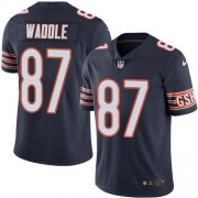 Wholesale Cheap Nike Bears #87 Tom Waddle Navy Blue Team Color Men's Stitched NFL Vapor Untouchable Limited Jersey