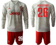 Wholesale Cheap Juventus #26 Lichtsteiner Away Long Sleeves Soccer Club Jersey