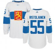 Wholesale Cheap Team Finland #55 Rasmus Ristolainen White 2016 World Cup Stitched NHL Jersey