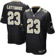 Wholesale Cheap Nike Saints #23 Marshon Lattimore Black Team Color Youth Stitched NFL Elite Jersey
