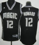 Wholesale Cheap Orlando Magic #12 Dwight Howard Revolution 30 Swingman Black With White Jersey