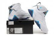 Wholesale Cheap Air Jordan 7 Retro Shoes white/French blue