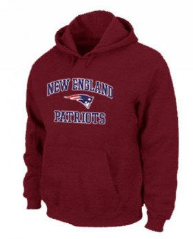 Wholesale Cheap New England Patriots Heart & Soul Pullover Hoodie Red