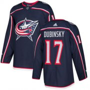 Wholesale Cheap Adidas Blue Jackets #17 Brandon Dubinsky Navy Blue Home Authentic Stitched Youth NHL Jersey