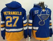 Wholesale Cheap Blues #27 Alex Pietrangelo Light Blue Name & Number Pullover NHL Hoodie