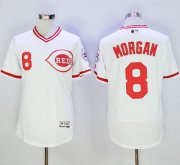 Wholesale Reds #8 Joe Morgan White Flexbase Authentic Collection Cooperstown Stitched Baseball Jersey