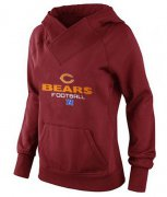 Wholesale Cheap Women's Chicago Bears Big & Tall Critical Victory Pullover Hoodie Red