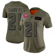 Wholesale Cheap Nike Falcons #21 Deion Sanders Camo Women's Stitched NFL Limited 2019 Salute to Service Jersey