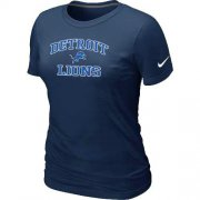 Wholesale Cheap Women's Nike Detroit Lions Heart & Soul NFL T-Shirt Dark Blue