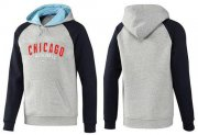 Wholesale Cheap Chicago Cubs Pullover Hoodie Grey & Blue