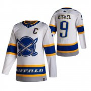 Wholesale Cheap Buffalo Sabres #9 Jack Eichel White Men's Adidas 2020-21 Reverse Retro Alternate NHL Jersey