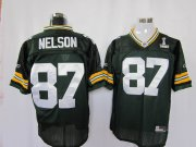 Wholesale Cheap Packers #87 Jordy Nelson Green Super Bowl XLV Stitched NFL Jersey