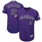 Wholesale Colorado Rockies Fanatics Apparel Platinum Collection Tri-Blend T-Shirt Black