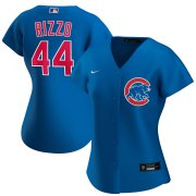Wholesale Cheap Chicago Cubs #44 Anthony Rizzo Nike Women's Alternate 2020 MLB Player Jersey Royal