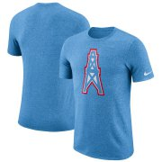 Wholesale Cheap Houston Oilers Nike Marled Historic Logo Performance T-Shirt Light Blue