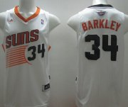 Wholesale Cheap Phoenix Suns #34 Charles Barkley Revolution 30 Swingman White Jersey