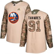 Wholesale Cheap Adidas Islanders #91 John Tavares Camo Authentic 2017 Veterans Day Stitched Youth NHL Jersey