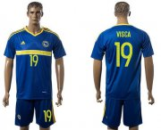 Wholesale Cheap Bosnia Herzegovina #19 Visca Home Soccer Country Jersey